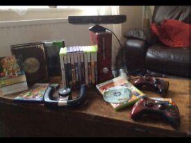 Xbox 360 bundle deal. Inc Kinect, steering wheel etc