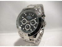Rolex Daytona Black, Automatic Watch, Metal Strap *1st Class Postage Available*