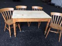 Very old farmhouse dining table