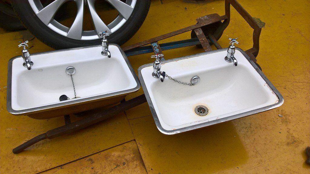 Bathroom Sinks Gumtree cast iron enamel sinks | in southside, glasgow | gumtree