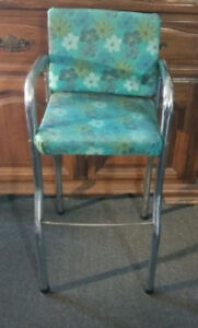 Cool retro vintage child booster seat chrome or doll high chair