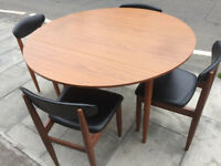 Retro Table and 4 Chairs- Free Local Delivery.