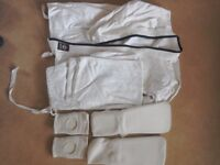Child's size 2 karate suit with pads
