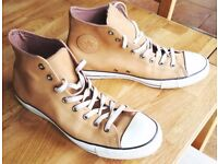 Superb nubuck leather light brown converse trainers size 11 great condition PRICE REDUCED