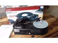 Record Player, Vinyl, Cassette, ION Duo Deck Portable USB, Mp3 Cassette Vinyl Recorder