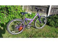 "Mountain Ridge Spirit Girl's bike 24 "" wheels well used in need of tlc"