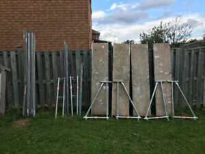 Scaffolding - Complete Set (4 stages- 20' +top guard+outriggers)