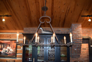 Rustic Wrought Iron Chandelier