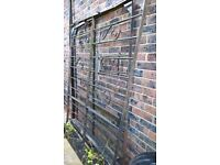 wrought iron gates. pair 6x5 ft each. free if you collect
