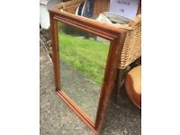 CHERRY WOOD FRAMED MIRROR SHABBY CHIC PROJECT