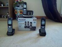 Panasonic Digital Cordless Answering System with 3 Digital Cordless Phones
