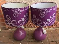 Purple table lamps