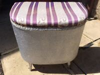 Lloyd Loom Storage Stool/Laundry Basket