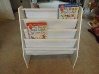 Childrens White Sling Style Bookcase