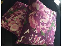 2 x floral cushions