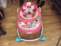 bright starts minnie mouse baby walker good condition.