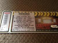 Leeds Fest ticket available