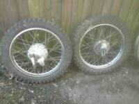 Old trail bike wheels