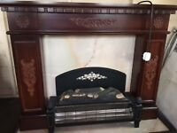 Electric Fire and Wooden surround USED