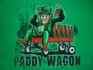 """PAPPY'S PADDY WAGON (FULL OF BEER) T-SHIRT, """"M"""""""