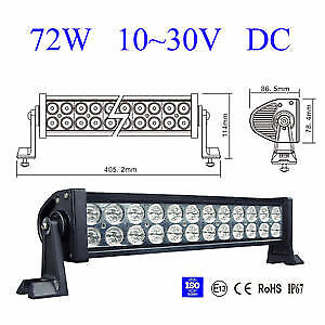 """12"""" LED light bar kit with one year warranty!"""