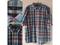 Men's Multicoloured Short Sleeved Checked Shirt Size 3XL