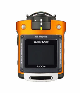 RICOH 4K Action Video Camera with 1.5-Inch LCD, Orange NEW