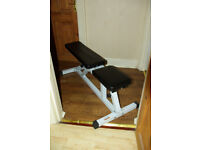 Adjustable Weight Lifting Bench; Condition: Like New