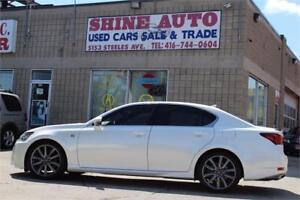 2013 Lexus GS F-SPORT,NAVIGATION, AWD, PEARL WHITE WRAP!!!