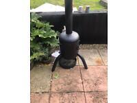Gass bottle log burner/chiminea