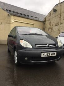 Citroen Xsara Picasso SX HDI, 2.0 Diesel, Armrests, Good Family Car - KIRKCALDY