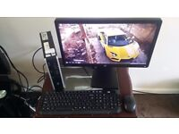 Fast Slim Intel 3Ghz 64bit PC, 4GB RAM, 160GB HDD, 20 inch LED Widescreen, HDMI, Wireless Key Mouse!