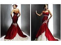 Red & white mermaid dress