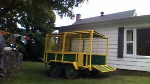 Trailer double essieux fait pour le bois et vtt bois