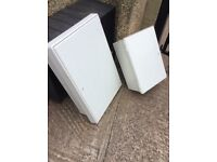 2 electric meter / junction boxs medium and large