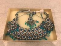 Blue diamond costume jewellery set