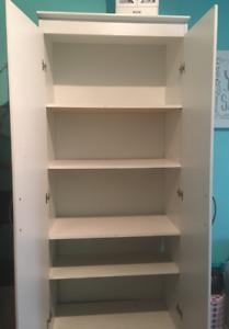 White shelve cabinet