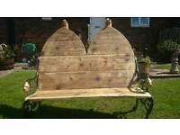 Garden Bench, Gothic Custom/Handmade 4ft Seating