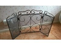Fire Guard, 3 part folding for easy storage, mesh with decorative metalwork