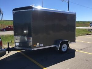 2016 6x10 v nose streamline cargo trailer stealth camper