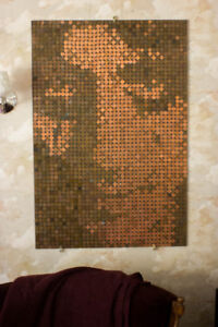 Alice Cooper Penny Art *One of a Kind!*