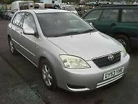 TOYOTA COROLLA 1.6 2004 BREAKING FOR SPARES TEL 07814971951 HAVE IN STOCK