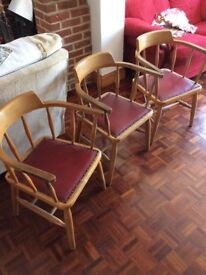 3 Captains Chairs £10 each or All 3 for £20