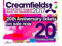 Creamfields ticket available