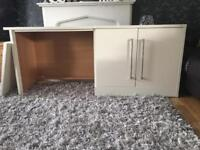 Cream cabinets or desk with cabinet. For study/bedroom? Etc