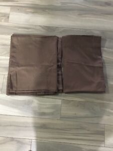MOVING SALE Set of 2 Solid Brown Curtain Panels 63""