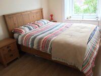 King Size Brushed Pine Wooden Bed Frame