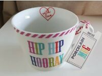 New with Tags NEXT Hip Hip Hooray Mug