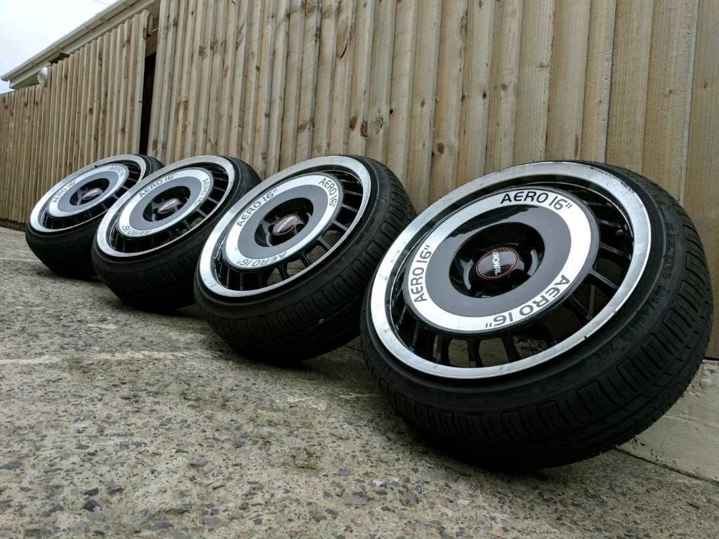 16 ronal aero alloy wheels and tyres 4x100 in morriston