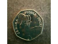 Jemima puddle duck 50p coin